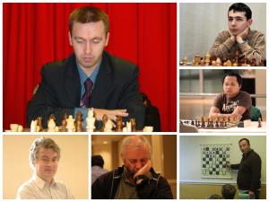 (L-R;T-B) Gata Kamsky, Aleksandr Lenderman, Mark Paragua, Mikheil Kekelidze, Alexander Ivanov, Sergey Kudrin
