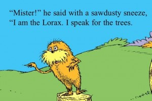 Noah let the lorax drown...smh