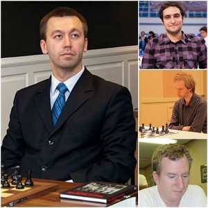 (L-R;T-B) Gata Kamsky, Elshan Moradiabadi, Bryan Smith, Michael Rohde